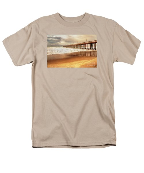 Day At The Pier Large Canvas Art, Canvas Print, Large Art, Large Wall Decor, Home Decor, Photograph Men's T-Shirt  (Regular Fit) by David Millenheft