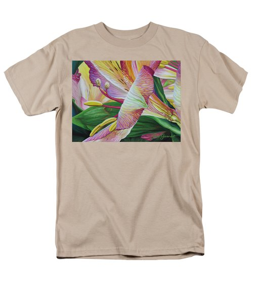 Men's T-Shirt  (Regular Fit) featuring the painting Day Lilies by Jane Girardot