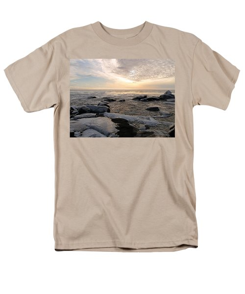 Dazzling Winter On Lake Superior Men's T-Shirt  (Regular Fit) by James Peterson