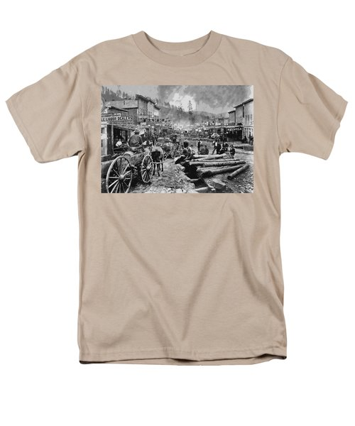 Deadwood South Dakota C. 1876 Men's T-Shirt  (Regular Fit) by Daniel Hagerman