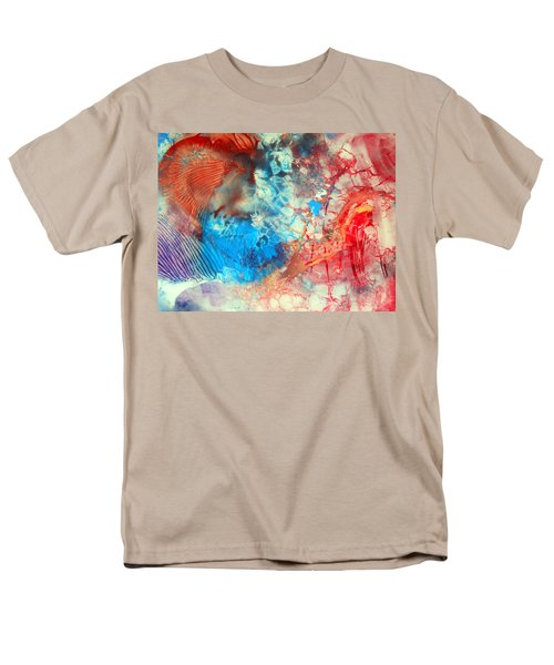 Men's T-Shirt  (Regular Fit) featuring the painting Decalcomaniac Colorfield Abstraction Without Number by Otto Rapp