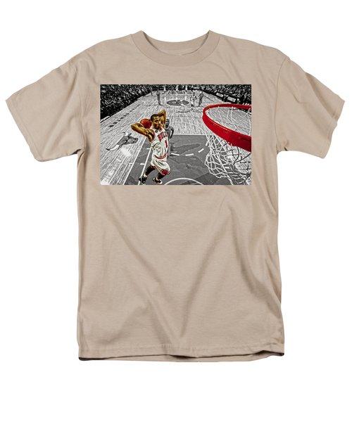 Derrick Rose Took Flight Men's T-Shirt  (Regular Fit) by Brian Reaves