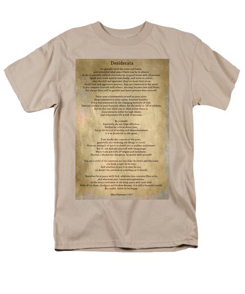 Desiderata - Scrubbed Metal Men's T-Shirt  (Regular Fit) by Paulette B Wright