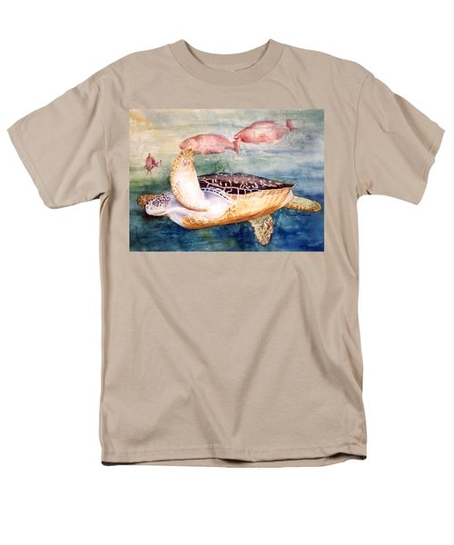 Determined - Loggerhead Sea Turtle Men's T-Shirt  (Regular Fit) by Roxanne Tobaison