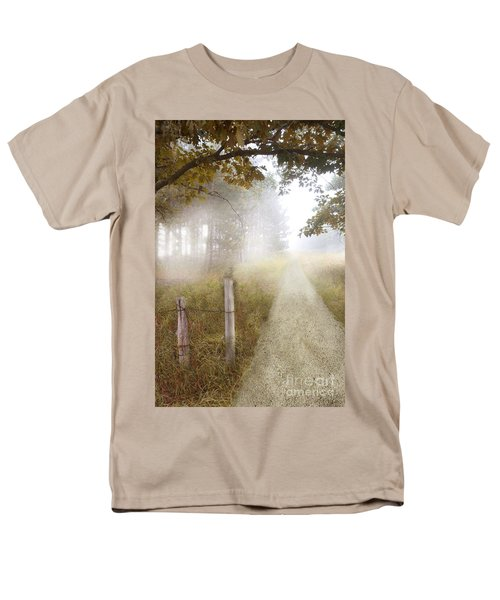 Dirt Road In Fog Men's T-Shirt  (Regular Fit) by Jill Battaglia