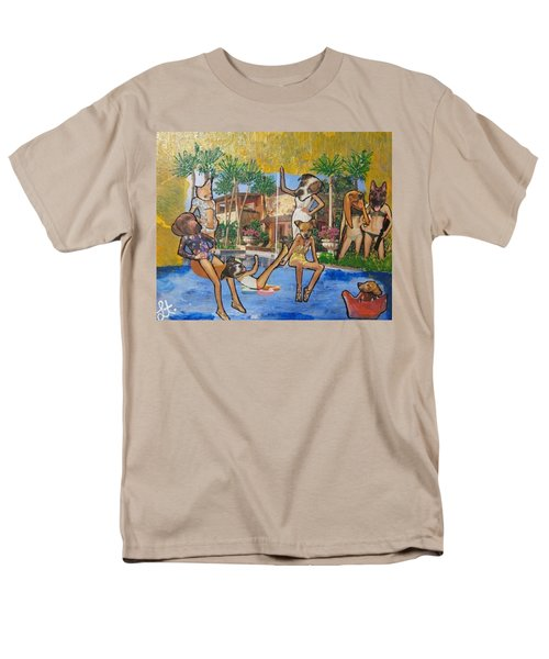 Dog Days Of Summer Men's T-Shirt  (Regular Fit) by Lisa Piper