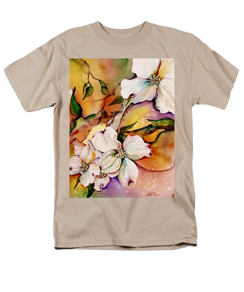 Dogwood In Spring Colors Men's T-Shirt  (Regular Fit) by Lil Taylor