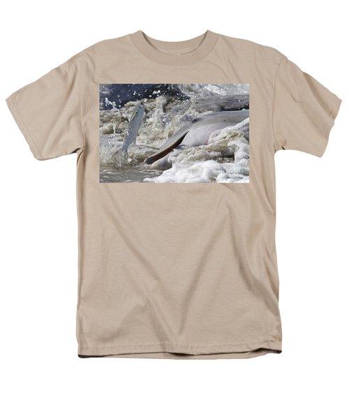 Dolphin Strand Feeding 2 Men's T-Shirt  (Regular Fit) by Kevin McCarthy