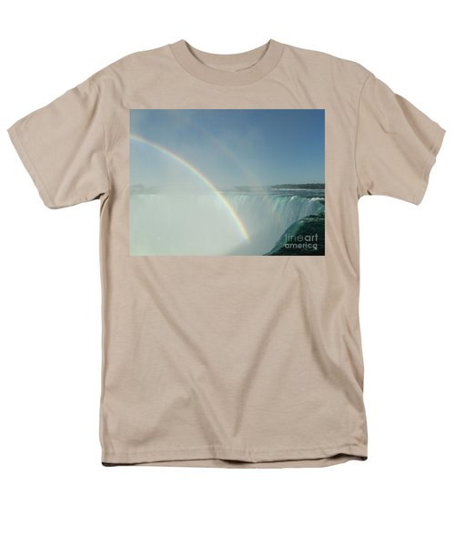 Men's T-Shirt  (Regular Fit) featuring the photograph Double Rainbow by Brenda Brown