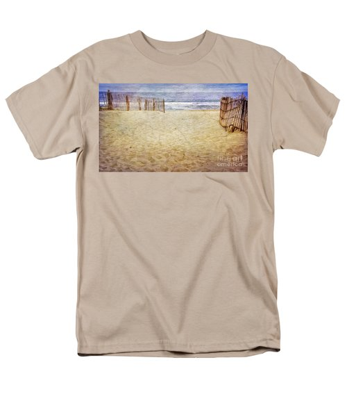 Men's T-Shirt  (Regular Fit) featuring the photograph Down The Shore by Debra Fedchin
