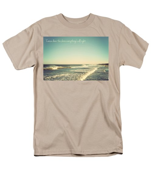 Down The Shore Seaside Heights Vintage Quote Men's T-Shirt  (Regular Fit) by Terry DeLuco