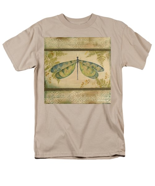 Dragonfly Among The Ferns-1 Men's T-Shirt  (Regular Fit) by Jean Plout
