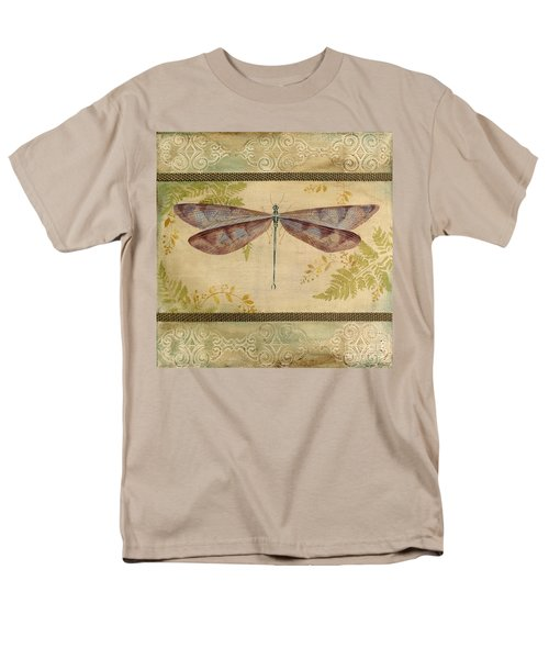 Dragonfly Among The Ferns-3 Men's T-Shirt  (Regular Fit) by Jean Plout