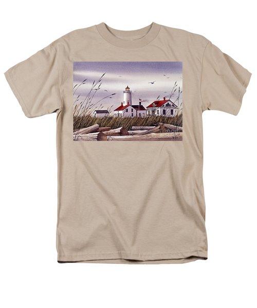 Dungeness Lighthouse Men's T-Shirt  (Regular Fit) by James Williamson