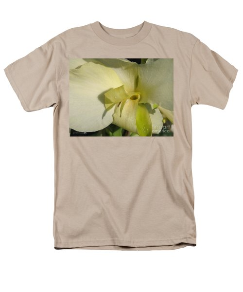 Men's T-Shirt  (Regular Fit) featuring the photograph Dwarf Canna Lily Named Ermine by J McCombie