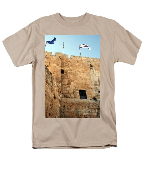 Men's T-Shirt  (Regular Fit) featuring the photograph Early Morning At The Jaffa Gate by Doc Braham