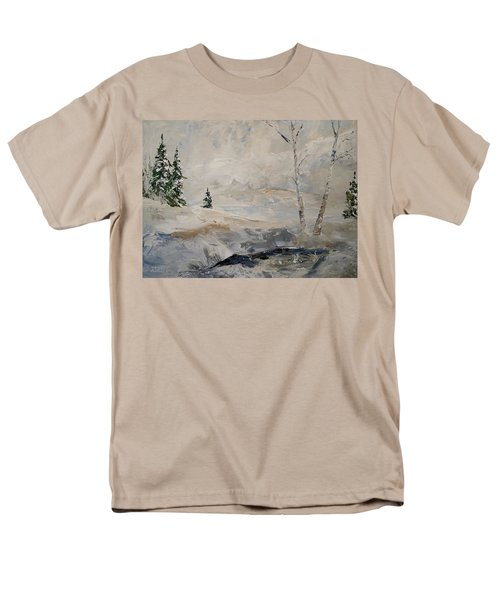 Men's T-Shirt  (Regular Fit) featuring the painting Early Snow by Alan Lakin