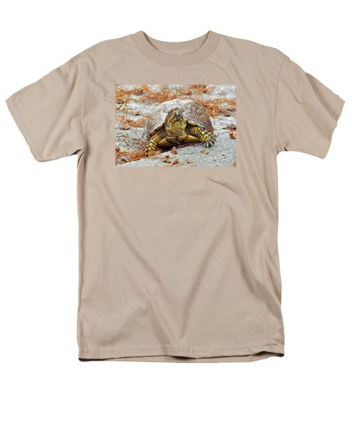 Men's T-Shirt  (Regular Fit) featuring the photograph Eastern Box Turtle by Cynthia Guinn