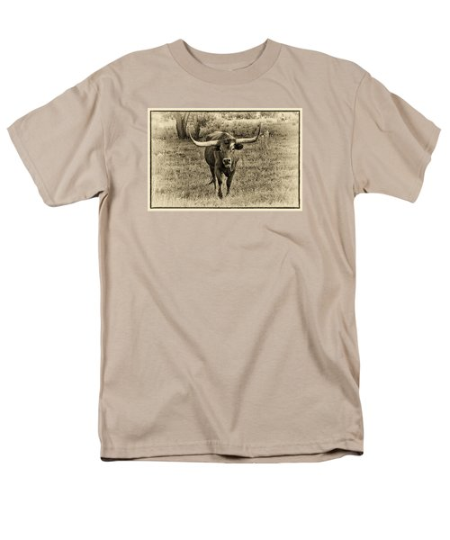 Eat Leaf Not Beef Sepia Men's T-Shirt  (Regular Fit) by Priscilla Burgers