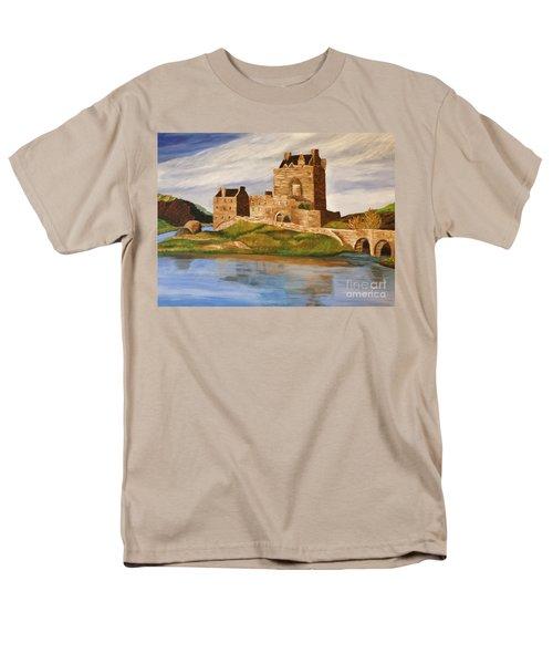 Eilean Donan Castle Men's T-Shirt  (Regular Fit) by Christy Saunders Church