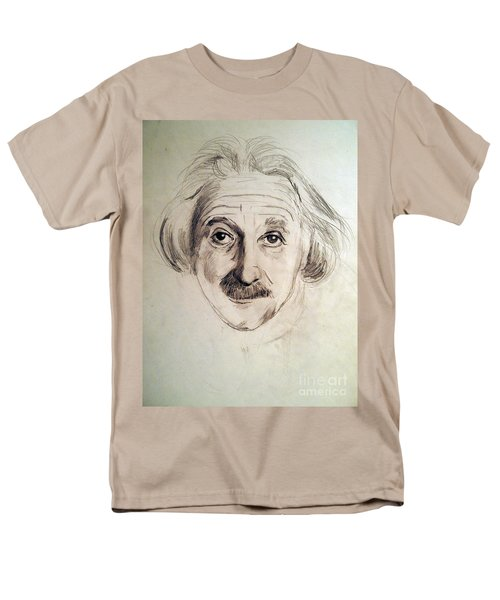 Men's T-Shirt  (Regular Fit) featuring the drawing Einstein by Nancy Kane Chapman