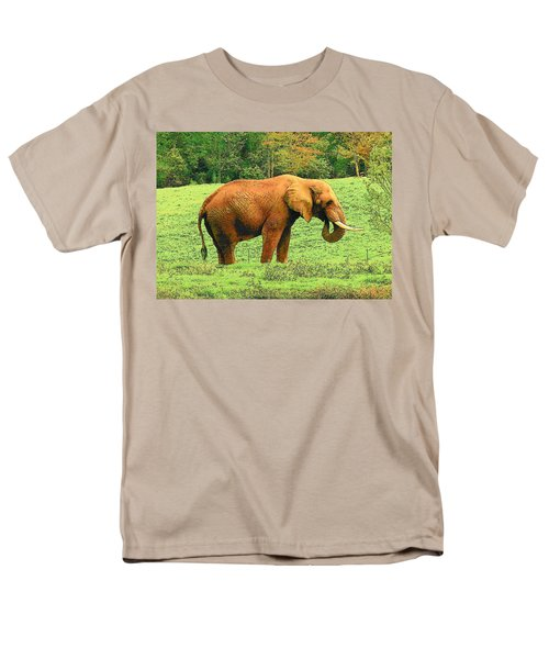 Men's T-Shirt  (Regular Fit) featuring the photograph Elephant by Rodney Lee Williams