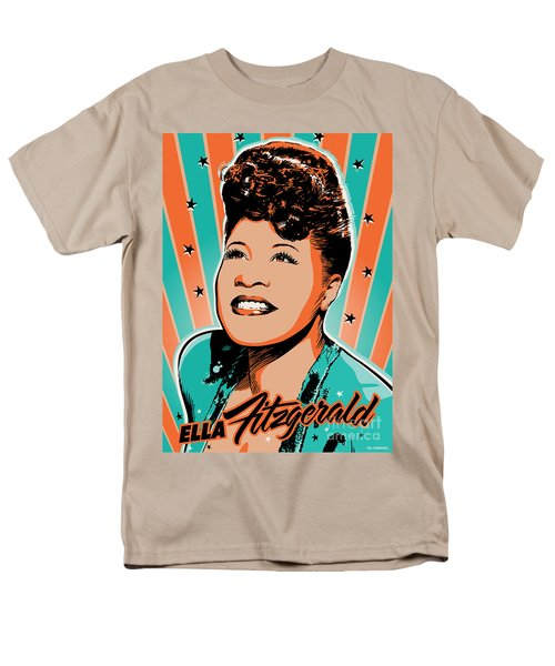 Ella Fitzgerald Pop Art Men's T-Shirt  (Regular Fit) by Jim Zahniser