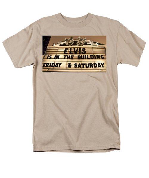 Elvis Is In Men's T-Shirt  (Regular Fit) by David Lee Thompson