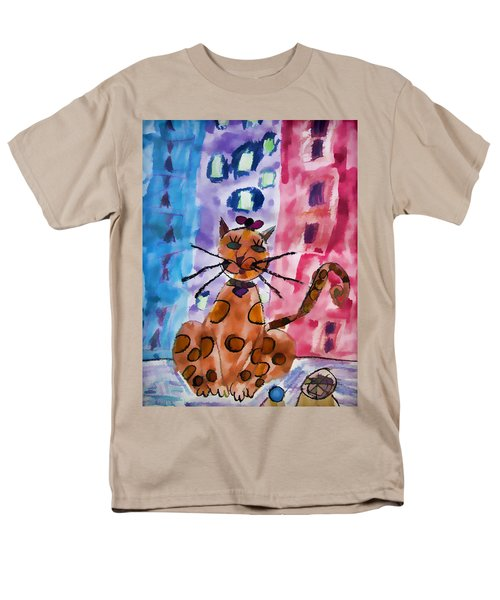 Emma's Spotted Kitty Men's T-Shirt  (Regular Fit) by Alice Gipson