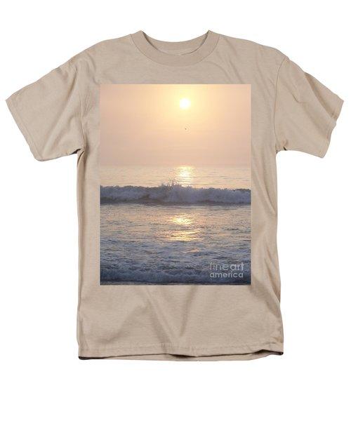 Men's T-Shirt  (Regular Fit) featuring the photograph Hampton Beach Wave Ends With A Splash by Eunice Miller