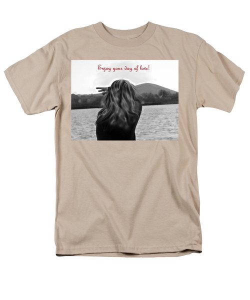Enjoy Your Day Of Love Men's T-Shirt  (Regular Fit) by Lisa Kaiser