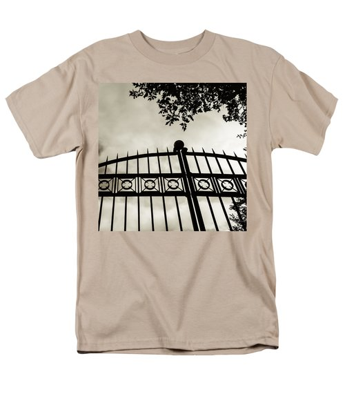Men's T-Shirt  (Regular Fit) featuring the photograph Entrances To Exits - Gates by Steven Milner