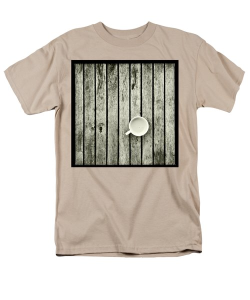 Espresso On A Wooden Table Men's T-Shirt  (Regular Fit) by Marco Oliveira