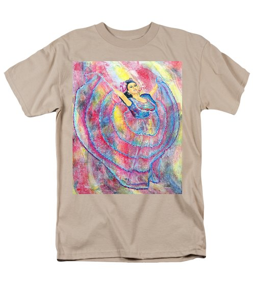 Men's T-Shirt  (Regular Fit) featuring the painting Expressing Her Passion by Susan DeLain