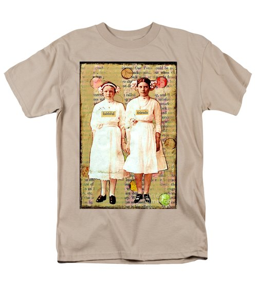 Men's T-Shirt  (Regular Fit) featuring the mixed media Faithful Friends by Desiree Paquette