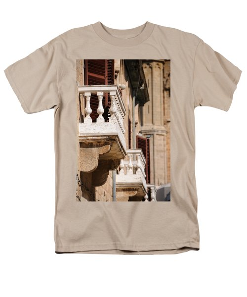 Men's T-Shirt  (Regular Fit) featuring the photograph Famagusta Balconies by Jeremy Voisey