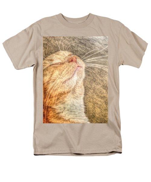Feline Bliss Men's T-Shirt  (Regular Fit)