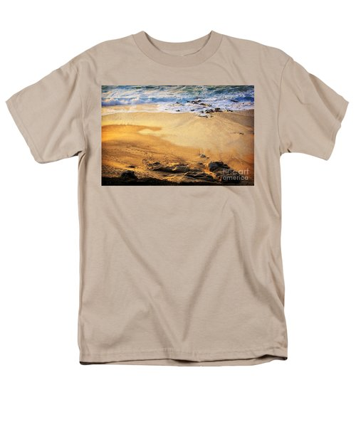 Men's T-Shirt  (Regular Fit) featuring the photograph Fiery Beach by Ellen Cotton
