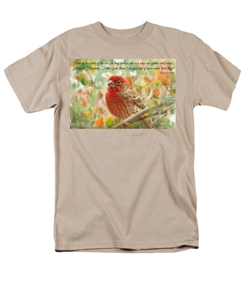 Finch With Verse New Version Men's T-Shirt  (Regular Fit) by Debbie Portwood