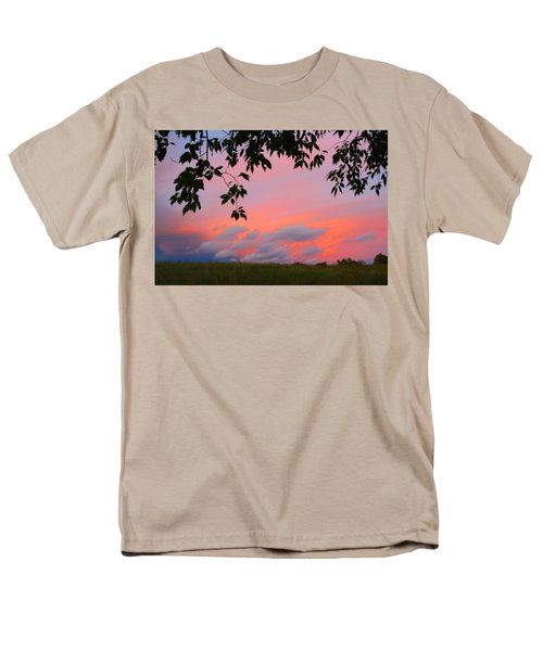 Men's T-Shirt  (Regular Fit) featuring the photograph First October Sunset by Kathryn Meyer