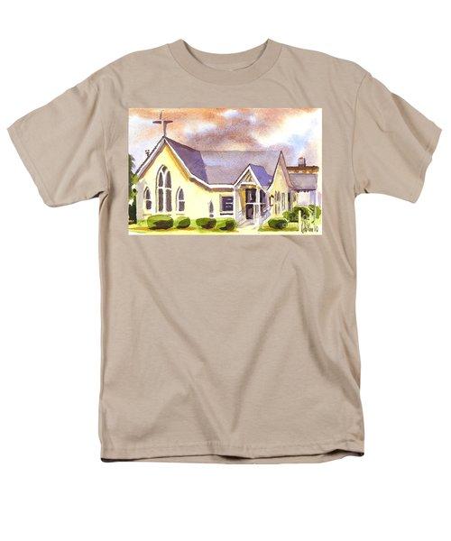 First Presbyterian Church Ironton Missouri Men's T-Shirt  (Regular Fit) by Kip DeVore