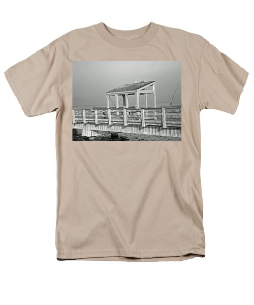Men's T-Shirt  (Regular Fit) featuring the photograph Fishing Pier by Tikvah's Hope
