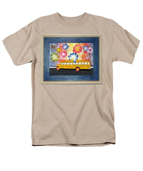 Men's T-Shirt  (Regular Fit) featuring the painting Flower Power by Ron Davidson