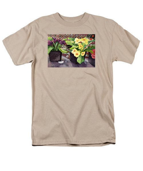 Flowers And Eagle Feathers Men's T-Shirt  (Regular Fit) by Lynda Hoffman-Snodgrass