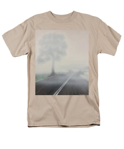 Men's T-Shirt  (Regular Fit) featuring the painting Foggy Road by Tim Mullaney