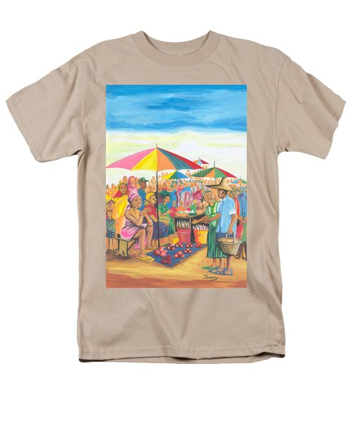 Food Market In Cameroon Men's T-Shirt  (Regular Fit) by Emmanuel Baliyanga