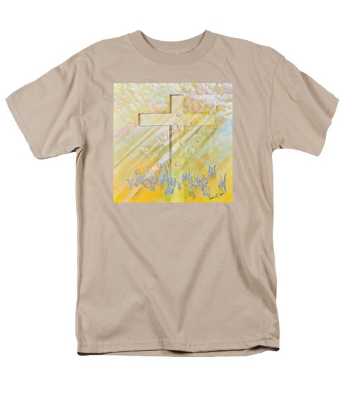 Men's T-Shirt  (Regular Fit) featuring the painting For The Cross by Cassie Sears