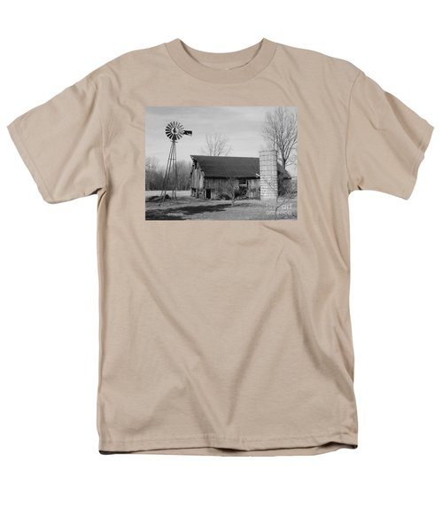 Forgotten Farm In Black And White Men's T-Shirt  (Regular Fit) by Judy Whitton