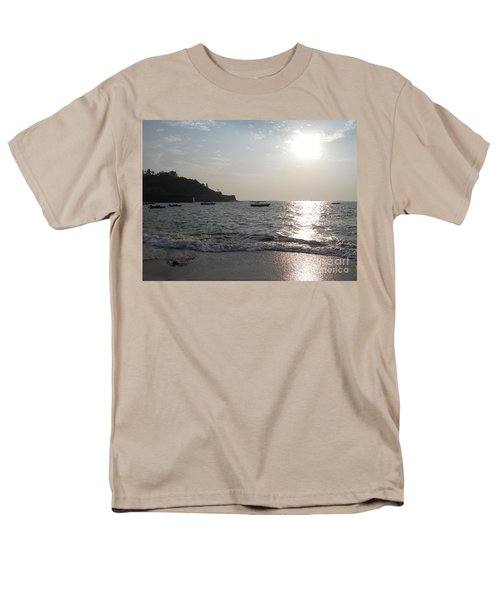 Men's T-Shirt  (Regular Fit) featuring the photograph Fort Aguada Beach by Mini Arora