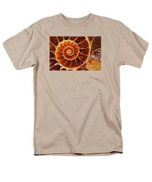 Fossil Nautilus Men's T-Shirt  (Regular Fit) by Alice Cahill